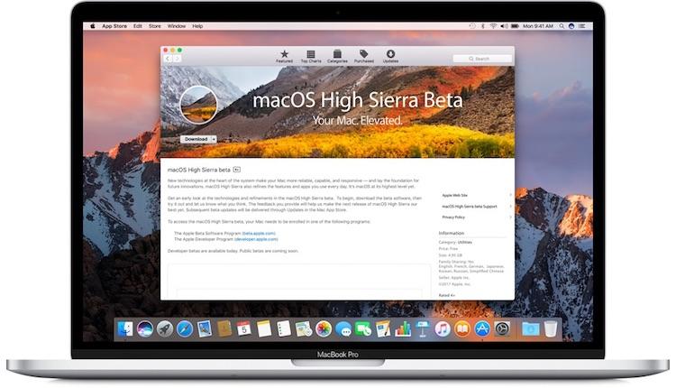 Actualización del programa de beta publica de macOS