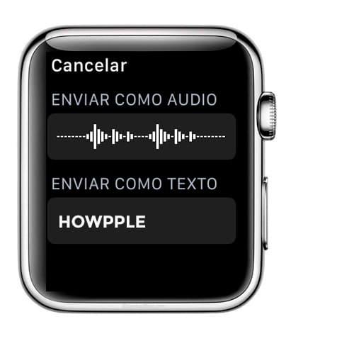 Seleccionar el tipo de mensajes en Apple Watch, si transcrito o de voz