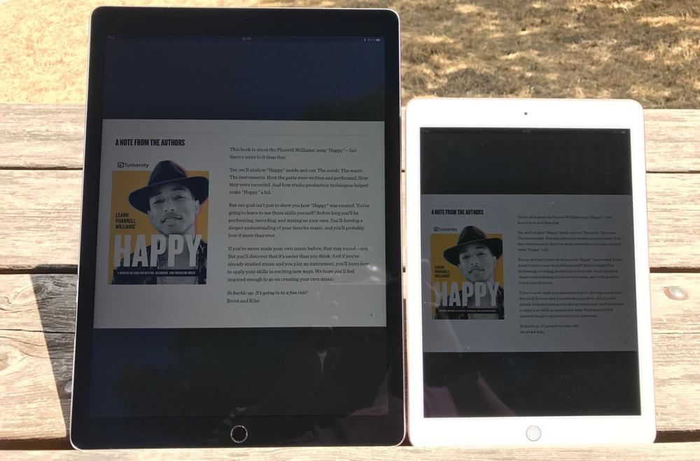 Brillo de la pantalla del iPad Pro 2017 y 2016