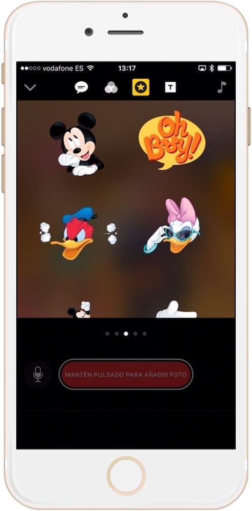 aplicación para hacer videos Clips Disney