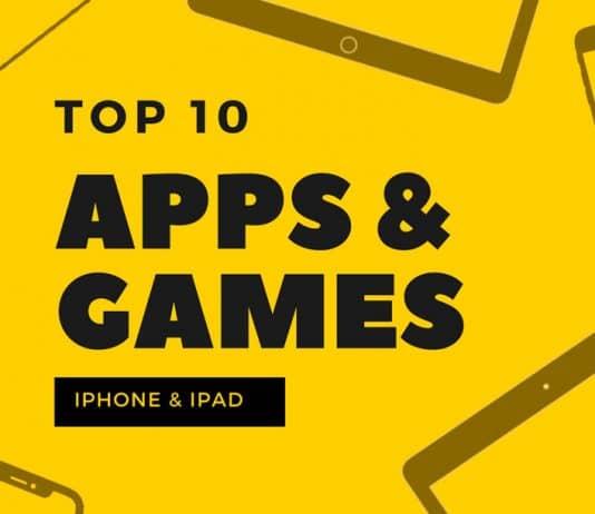 Listado con el TOP 10 de aplicaciones para iPhone y iPad y Juegos para iPad y iPhone