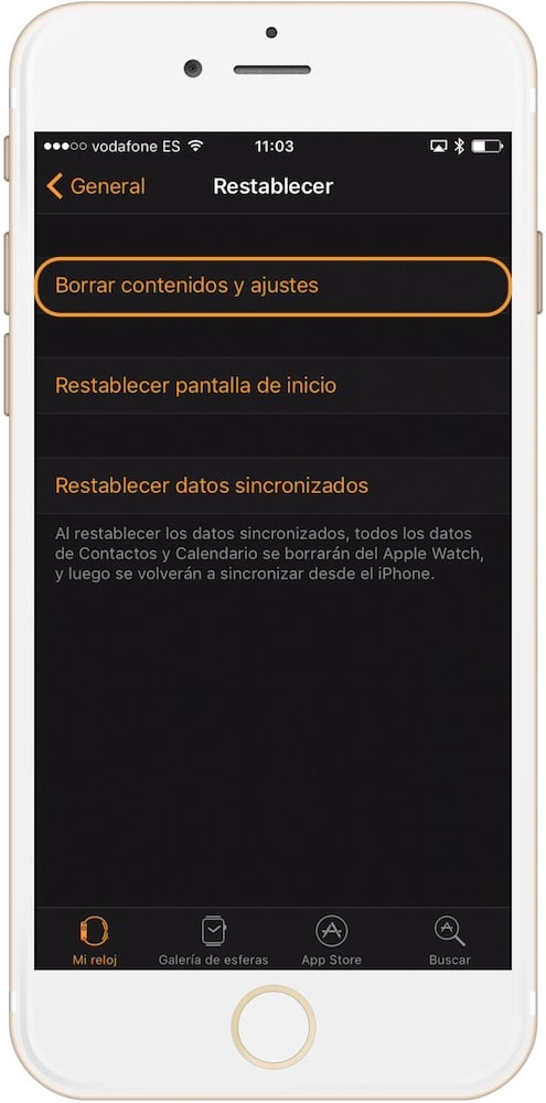 Aprende como restaurar el Apple Watch desde el iPhone