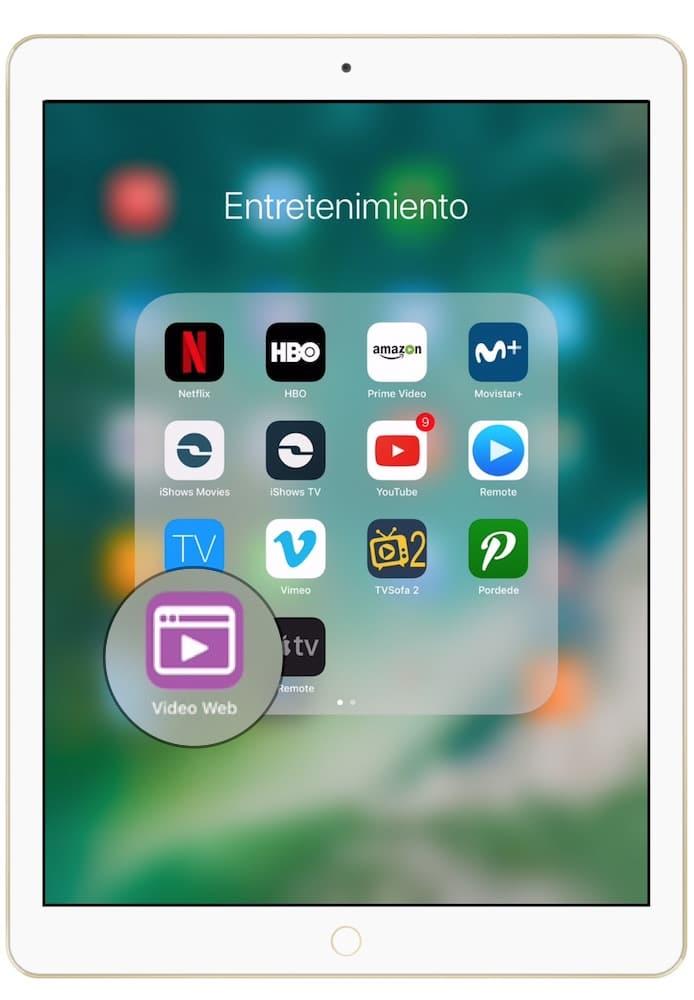 Aplicación para descargar películas en iPad o iPhone