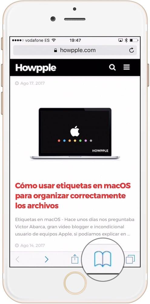 Cómo entrar en la lista de lectura de Safari desde iPhone y iPad