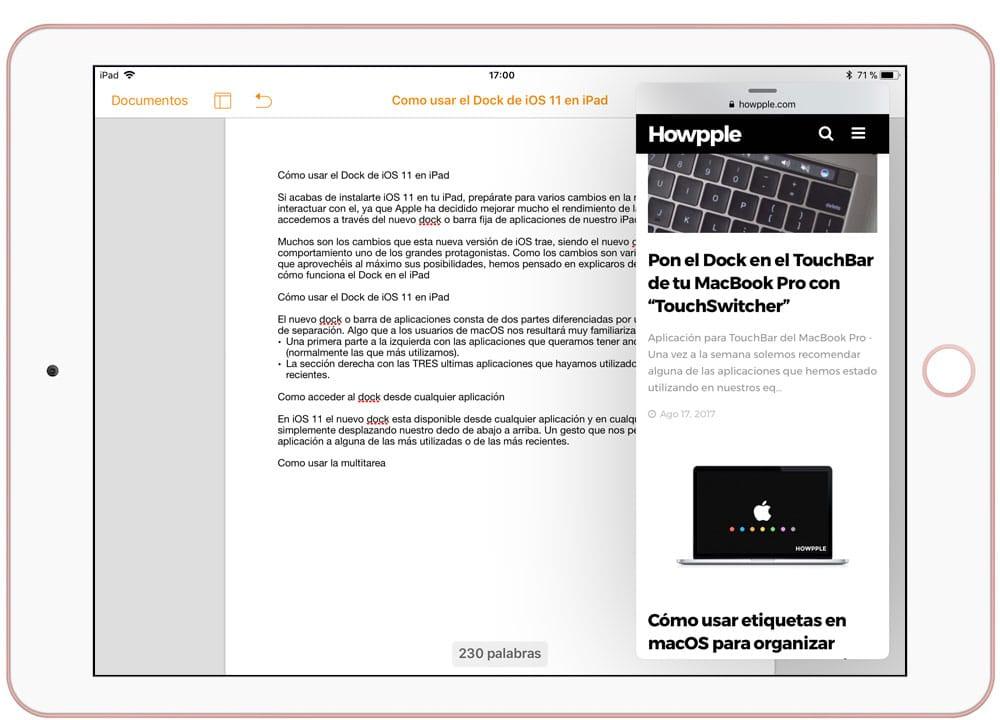 Usa más de una aplicación con la multitarea del iPad Pro