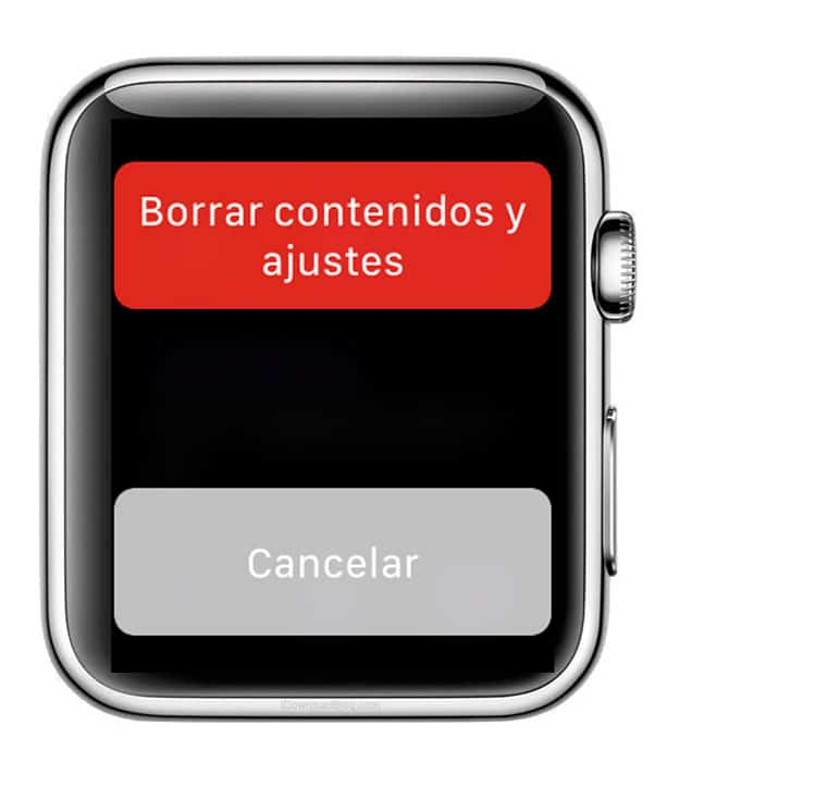 confirmar borrado al restaurar Apple Watch