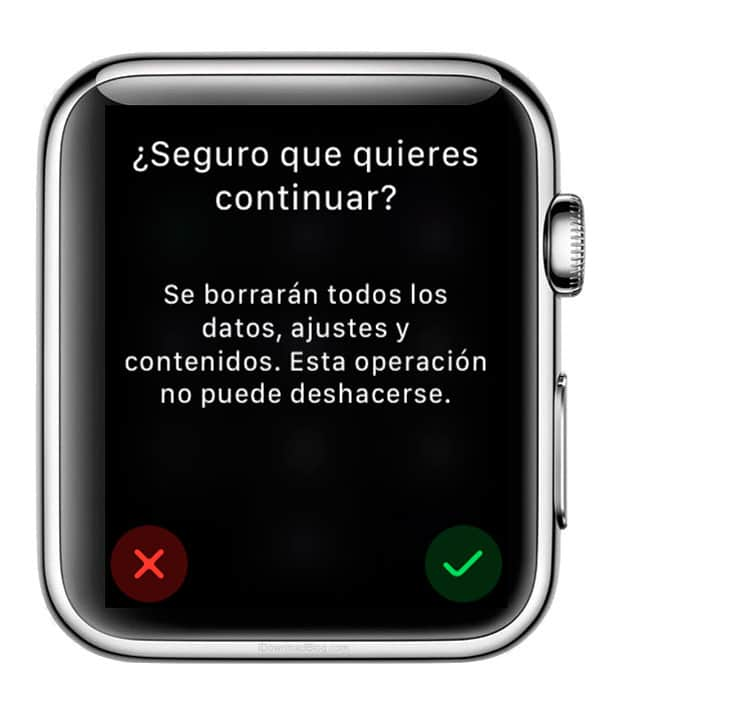 Restaurar el Apple Watch desde el dispositivo