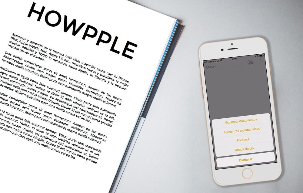 Cómo escanear documentos en iPhone y iPad con iOS 11