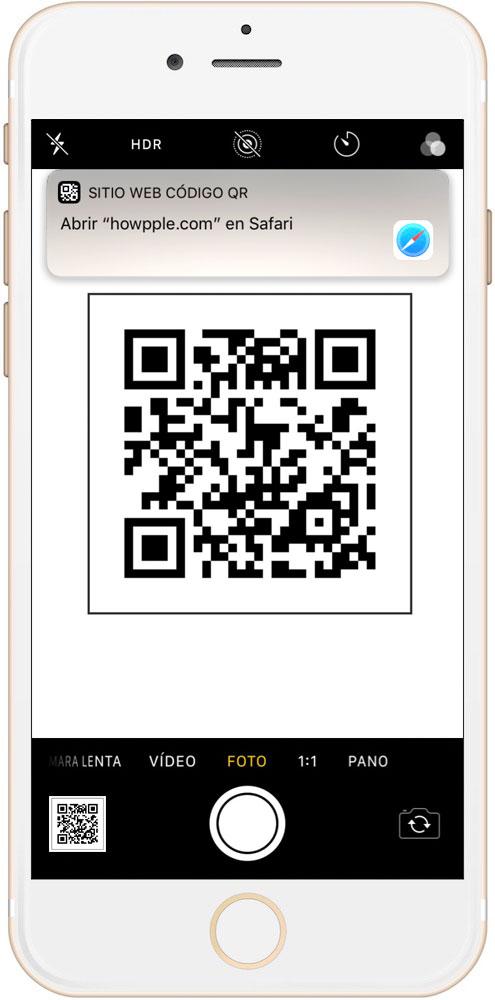 mensaje que aparece al escanear un código QR