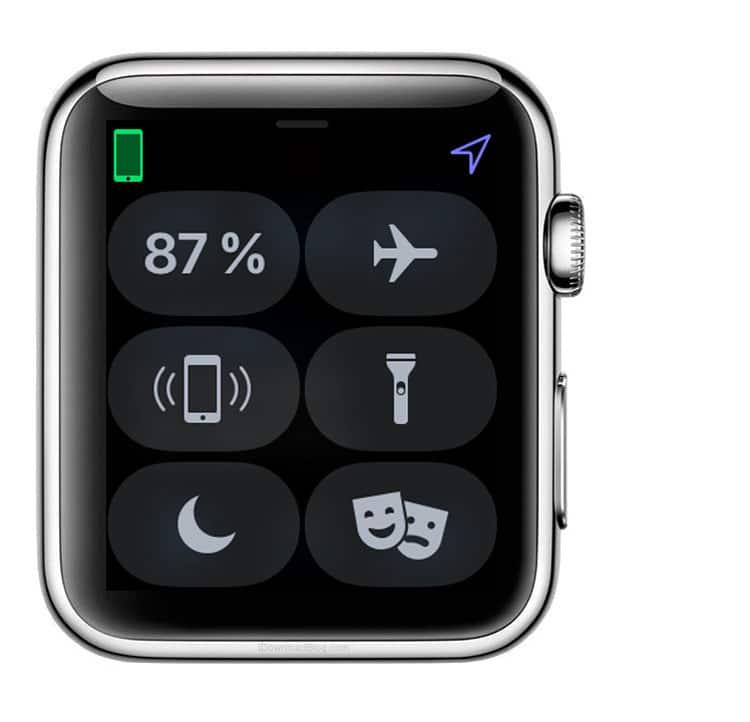 Cómo usar la linterna del Apple Watch desde el panel de control
