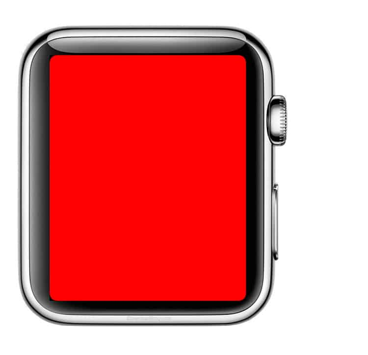 Luz roja de la linterna del Apple Watch
