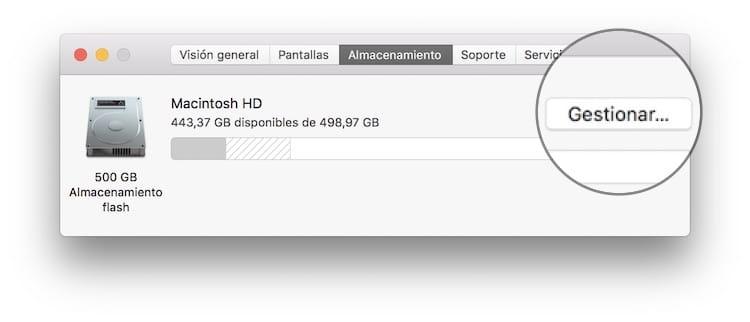 Optimiza el almacenamiento en Mac