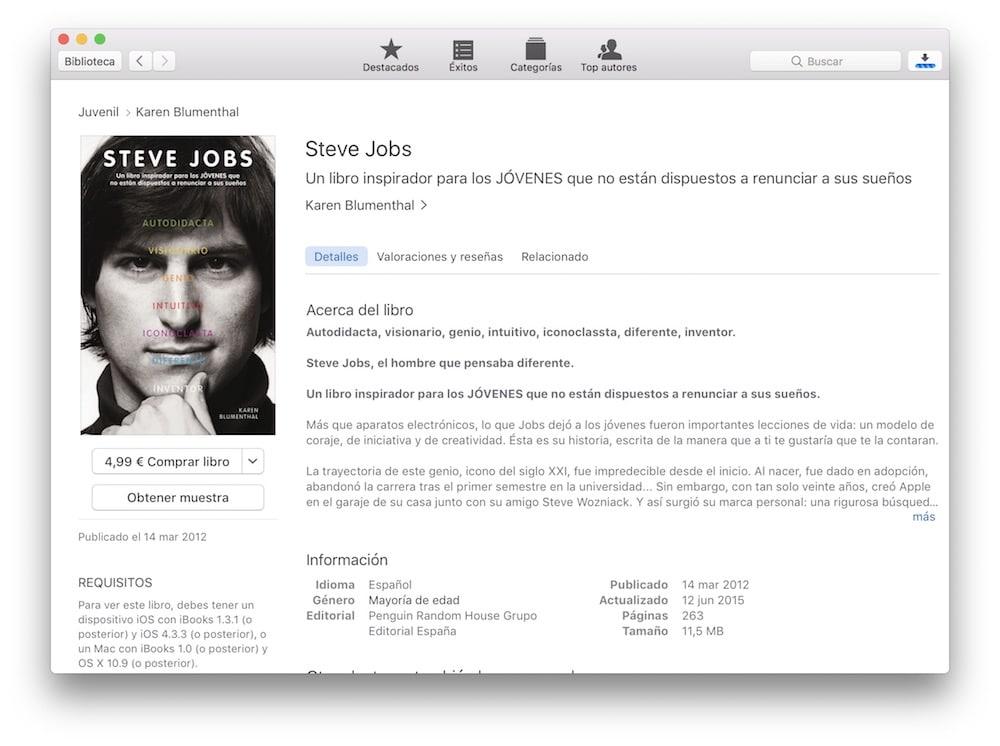 Usar iBooks para libros y apunten en mac para clase