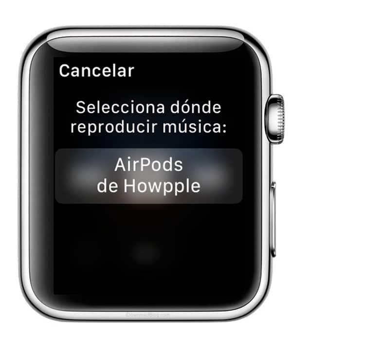 Salida de audio de Apple Music en Apple Watch Series 3