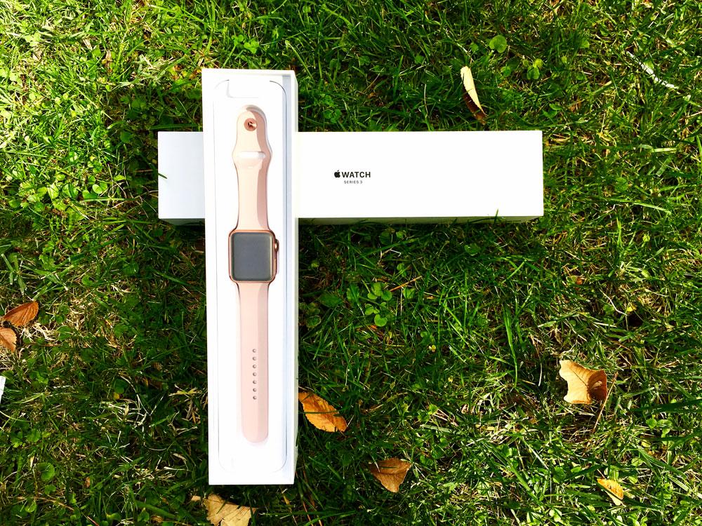 caja abierta del Apple Watch Series 3