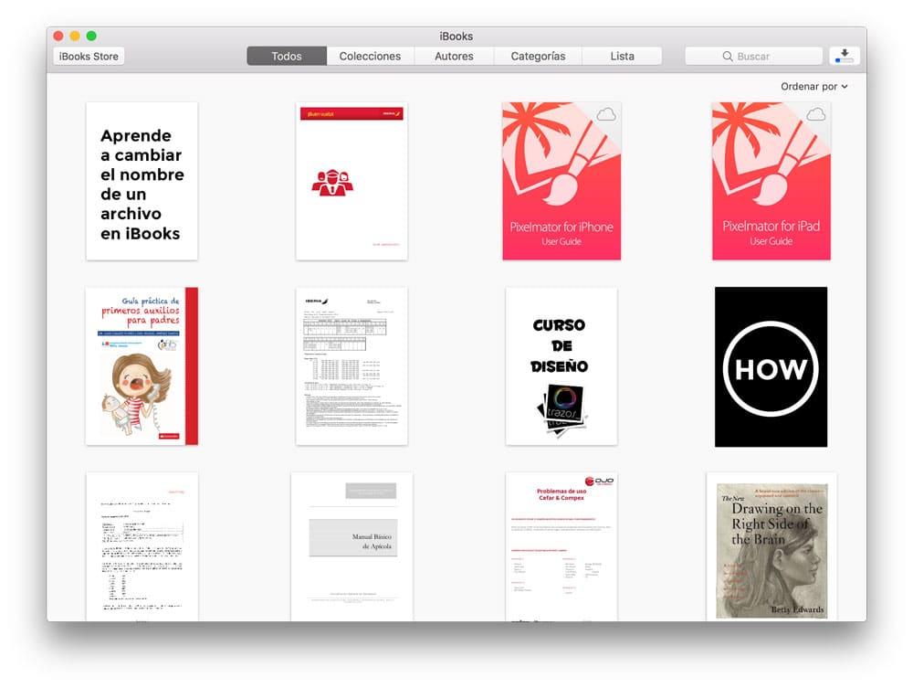 Aprende a cambiar el nombre de un archivo en iBooks desde el Mac