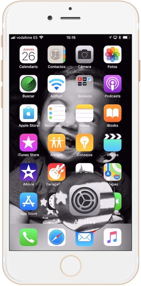 Ajustes del iPhone para configurar la llamada de emergencia en iPhone