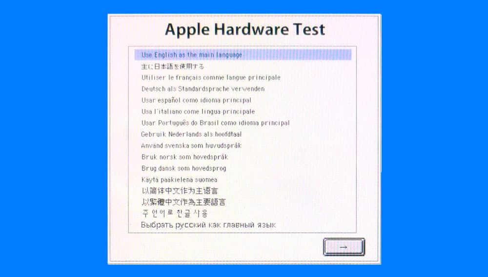 Como hacer un diagnostico de hardware en mac con el Apple Hardware test