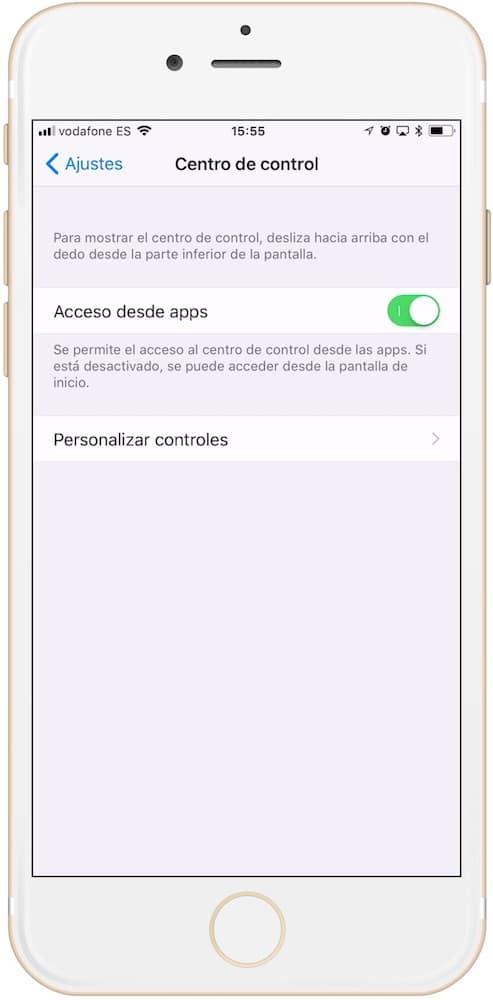 como personalizamos el cen tro de control en iOS 11