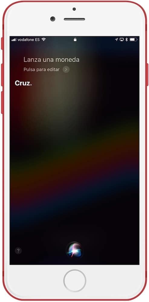 Siri juegos de mesa pedirle que lance una moneda