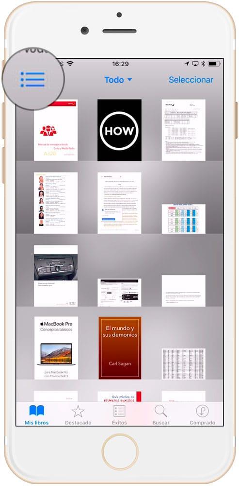 Cómo cambiar el nombre re de un archivo en iBooks