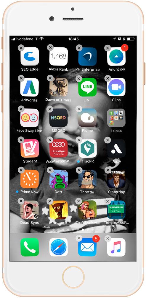 aplicaciones bailando a la hora de crear carpetas de aplicaciones en iOS 11