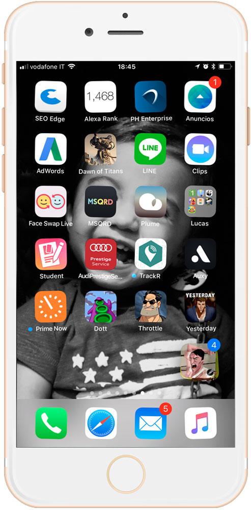 carpetas de aplicaciones creadas instantáneamente en iOS 11