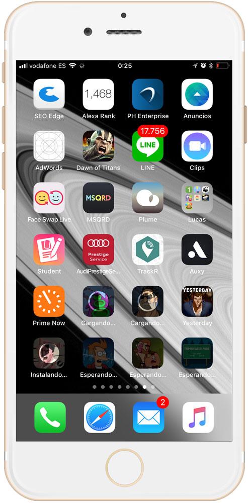 Aplicaciones descargándose que podemos priorizar en iPhone