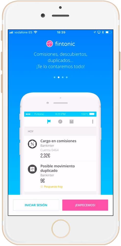 CUATRO mejores aplicaciones de finanzas personales para iPhone Fintonic 2