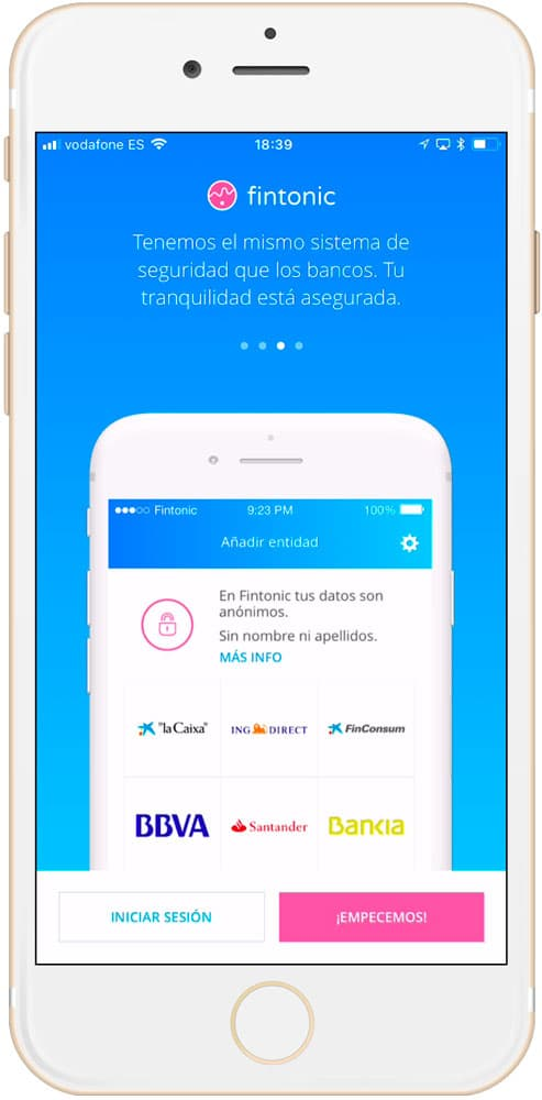 CUATRO mejores aplicaciones de finanzas personales para iPhone Fintonic 3