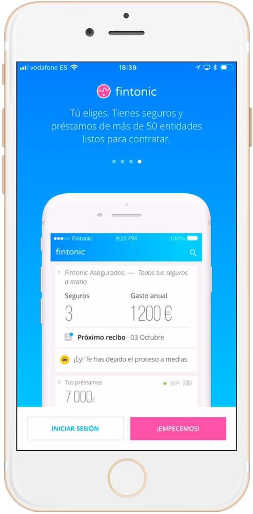 CUATRO mejores aplicaciones de finanzas personales para iPhone Fintonic 4