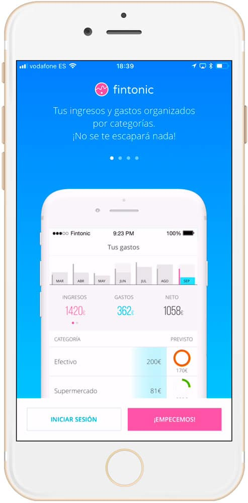 CUATRO mejores aplicaciones de finanzas personales para iPhone Fintonic