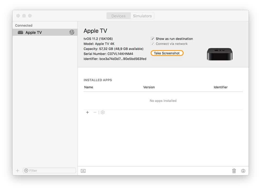 Botón para hacer Capturas de pantalla en el Apple TV 4k