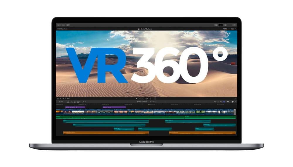 Actualizacion de Final Cut Pro X realidad virtual