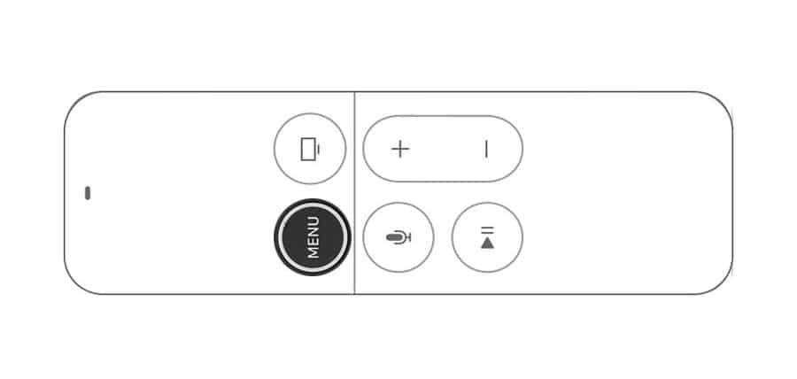 Botón menú del mando del Apple TV