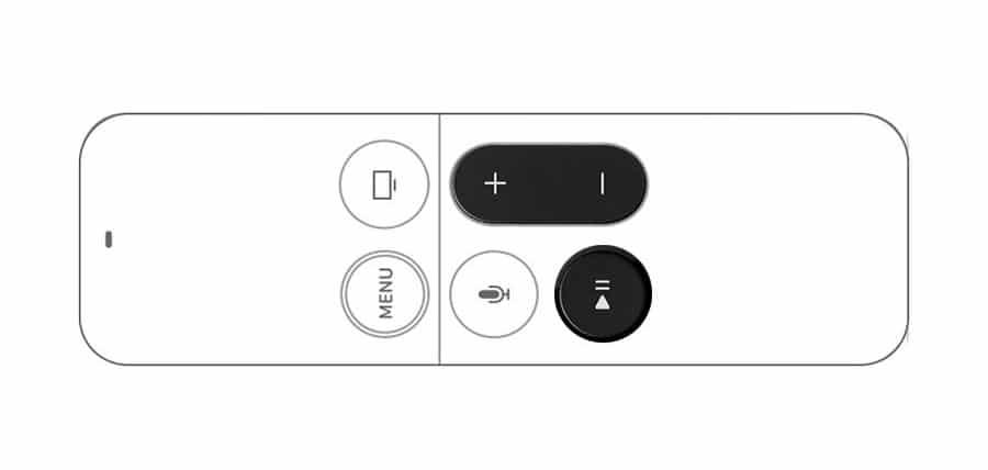 Combinación para hacer un diagnostico del mando del Apple TV