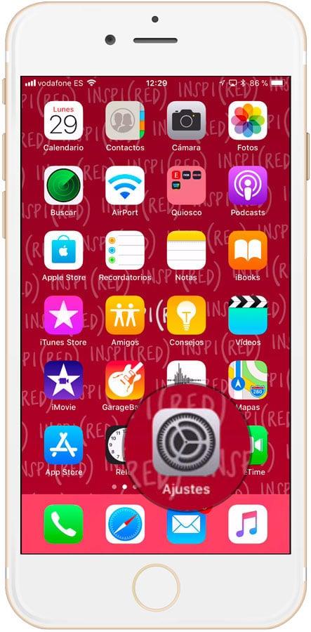 Ajustes de iPhone y iPad