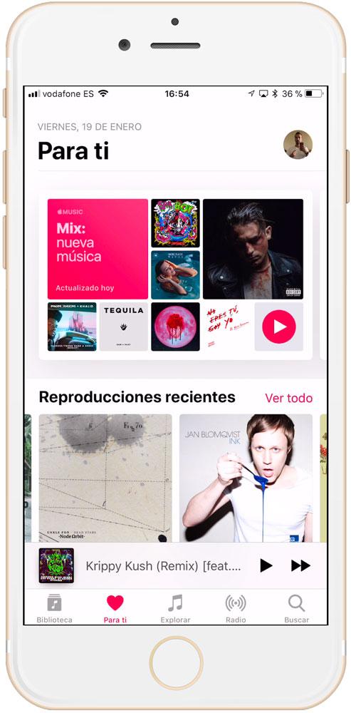 Cómo seguir artistas en la sección para ti de Apple Music