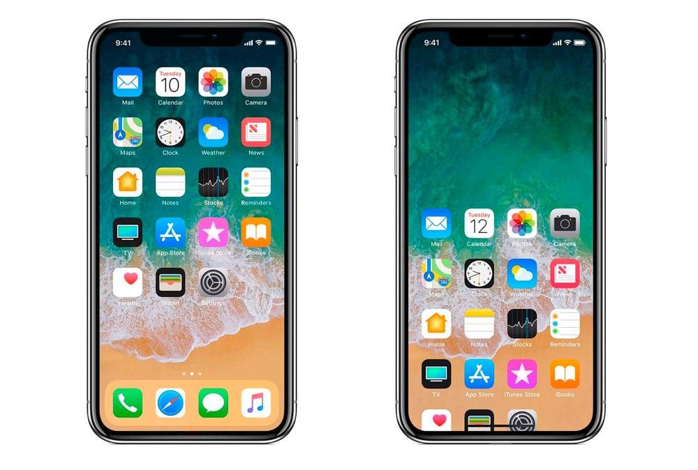Película a tamaño completo en iPhone X