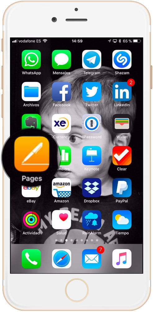 Aplicación Pages para iOS