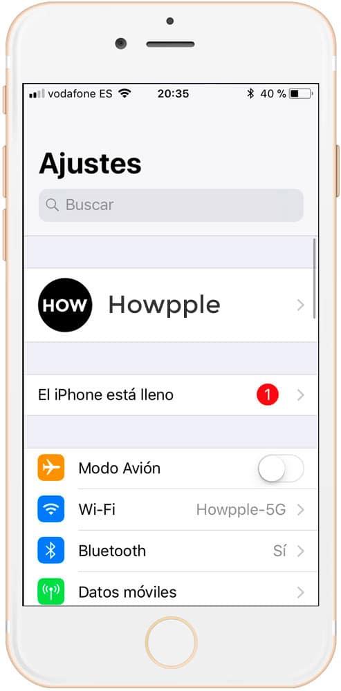 ganar espacio en iPhone eliminando otros archivos