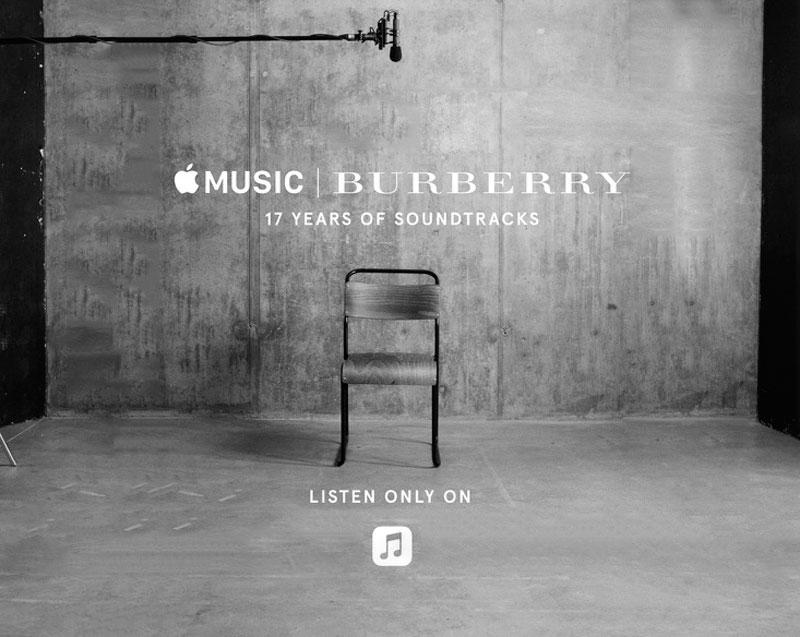 17 años de desfiles de Burberry en Apple Music