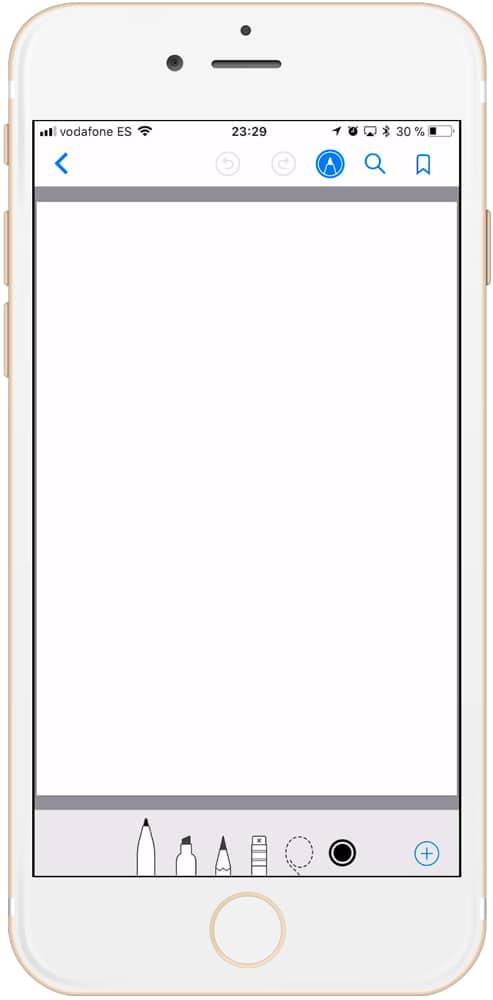 Botón personalizar documento en iBooks