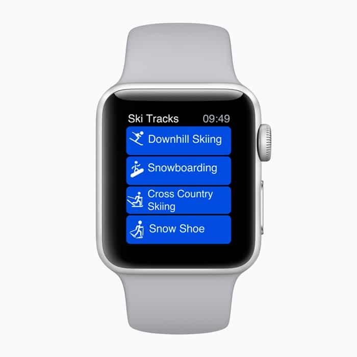 Actividad Apple Watch Ski