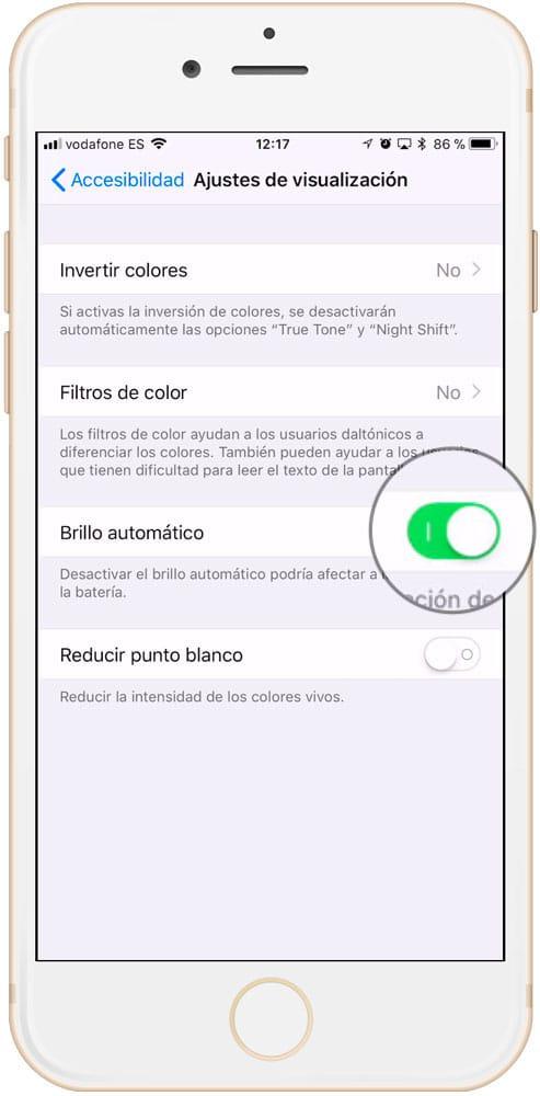 Cómo alargar la vida de la batería del iPhone Brillo automático