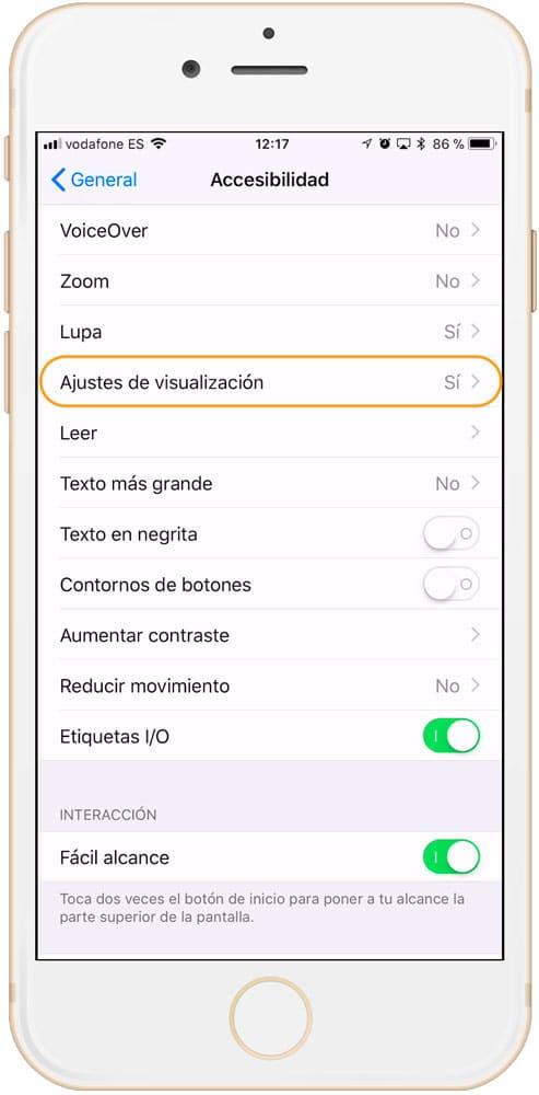Cómo alargar la vida de la batería del iPhone ajuste brillo
