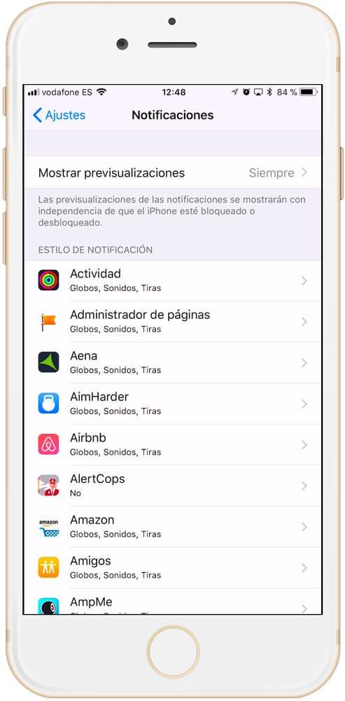 Aplicaciones que lanzan notificaciones y gastan baterías