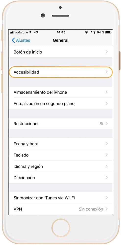 Opciones de accesibilidad para contestar llamadas automáticamente en iPhone