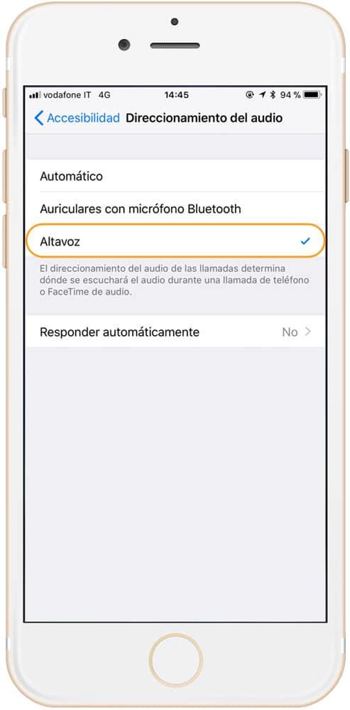Aprende cómo contestar llamadas automáticamente en iPhone botón activar altavoz