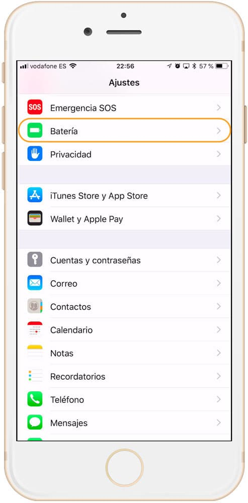 Salud de la batería en la actualizacion de iOS 11.3